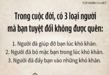 3 LOAI NGUOI KHONG DUOC QUEN