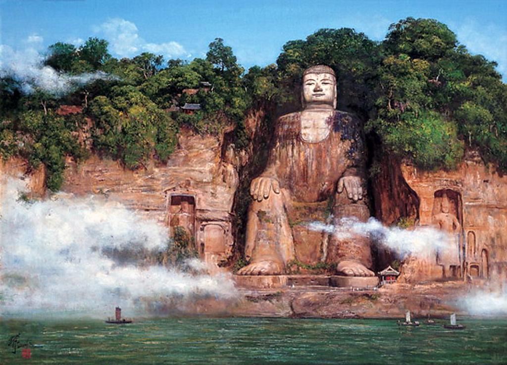Sau hàng ngàn năm ngủ vùi, bức tượng Phật lớn nhất thế giới bất ngờ lộ diện trước công chúng